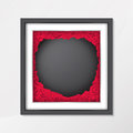 Chalkboard background texture in vintage style with red rose flower in photo frame Royalty Free Stock Photo