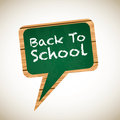 Chalkboard board with a back to school announcement Stock Photography