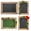 Chalkboard Christmas decoration Vintage blackboard set