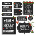 Chalkboard christmas design elements style vintage for and new year on white background Royalty Free Stock Photography