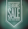 Chalkboard clearance sale poster sign banner illustration design Royalty Free Stock Photography
