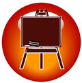 Chalkboard easel icon  Royalty Free Stock Image