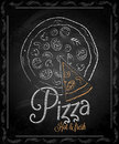 Chalkboard frame pizza menu eps Stock Images