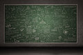 Chalkboard with hand drawings