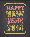 Chalkboard happy new year card style greeting for s Stock Image