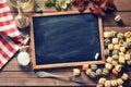 Chalkboard And Italian Food In...