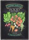 Chalkboard Organic Natural Food.