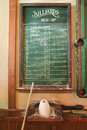 Chalkboard queue for billiards. Royalty Free Stock Images