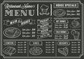 Chalkboard Restaurant Menu Template