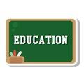 Chalkboard school isolated icon