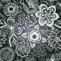 Chalkboard seamless floral pattern copy that square to the sid side you ll get seamlessly tiling which gives resulting Royalty Free Stock Photo
