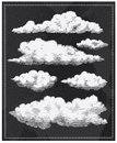 Chalkboard Vintage Clouds Back...