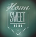 Chalkboard vintage home sweet home sign poster illustration Royalty Free Stock Images