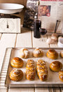 Challah for shabbat in different shapes and sizes the sabbath and rosh hashanah Stock Photography