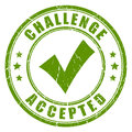 Challenge accepted rubber stamp Royalty Free Stock Photo