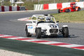 Challenge caterham v de v that celebrates at circuit cataluña barcelona spain on days march driver number gasparini yann Royalty Free Stock Image