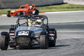 Challenge caterham v de v that celebrates at circuit cataluña barcelona spain on days march driver number leopoldes Royalty Free Stock Images