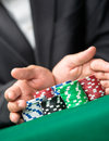 Challenge to the casino Stock Image