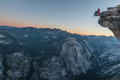 Challenge your limits. Top Half Dome Royalty Free Stock Photo