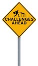 Challenges Ahead Royalty Free Stock Photo