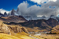 Chalten town patagonia argentina el is a small near the mount fitz roy the trekking capital of Royalty Free Stock Photos