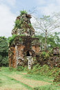 Cham tower at my son quang nam viet nam ruined temple of the ancient champa da nang vietnam this beautiful temple or tomb with the Stock Photo