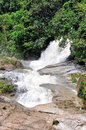 Chamang waterfall at bentong pahang Stock Image
