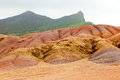 Chamarel seven colored sands in mauritius island Stock Photography