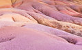 Chamarel seven colored sands in mauritius island Royalty Free Stock Images