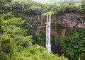 Chamarel waterfalls in mauritius landscape a sunny day Stock Photos