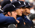 Chamberlain, Pettitte and Sabathia, New York Yank Royalty Free Stock Photography