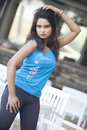 Chami is a upcoming actress in srilanka peper shoot at galkissa srilanka on Stock Photo