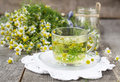 Chamomile Flowers In A Glass J...