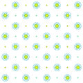 Chamomile seamless pattern, Simple floral design, Abstract flower white background Royalty Free Stock Photo
