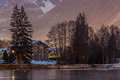 Chamonix Mont Blanc at night Royalty Free Stock Images