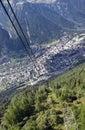 Chamonix panorama Stock Photography