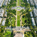 The champ de mars paris view from eiffel tower france Royalty Free Stock Photography