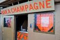 Champagne bar tour eiffel Royalty Free Stock Photo
