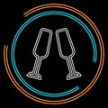 Champagne bottle icon - drink alcohol