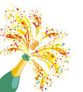 Champagne celebration. Vector illustration  Royalty Free Stock Image
