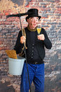 Champagne chimney sweep Stock Photo