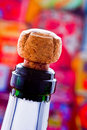 Champagne cork ready to explode Royalty Free Stock Photo