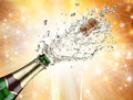 Champagne explosion Stock Photography