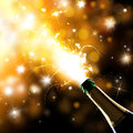 Champagne explosion close up of celebration theme Royalty Free Stock Image