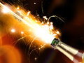 Champagne explosion close up of celebration theme Royalty Free Stock Photo
