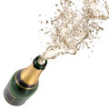 Champagne explosion close up of celebration theme Royalty Free Stock Photography