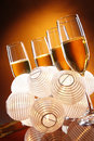 Champagne and favors Royalty Free Stock Photo