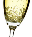 Champagne flute closeup Royalty Free Stock Photo