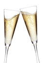 Champagne flutes toasting Royalty Free Stock Images