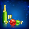 Champagne Glass for Christmas Celebration Royalty Free Stock Photos